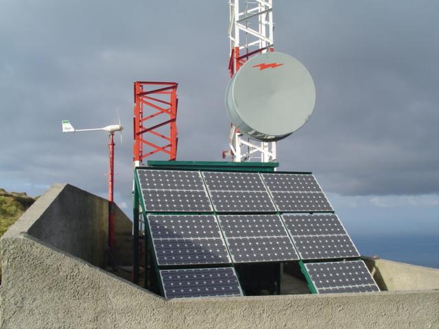 Aerogenerador de minieólica Bornay para Telecomunicaciones en Azores