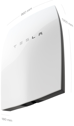 Tesla Powerwall, dimmensions