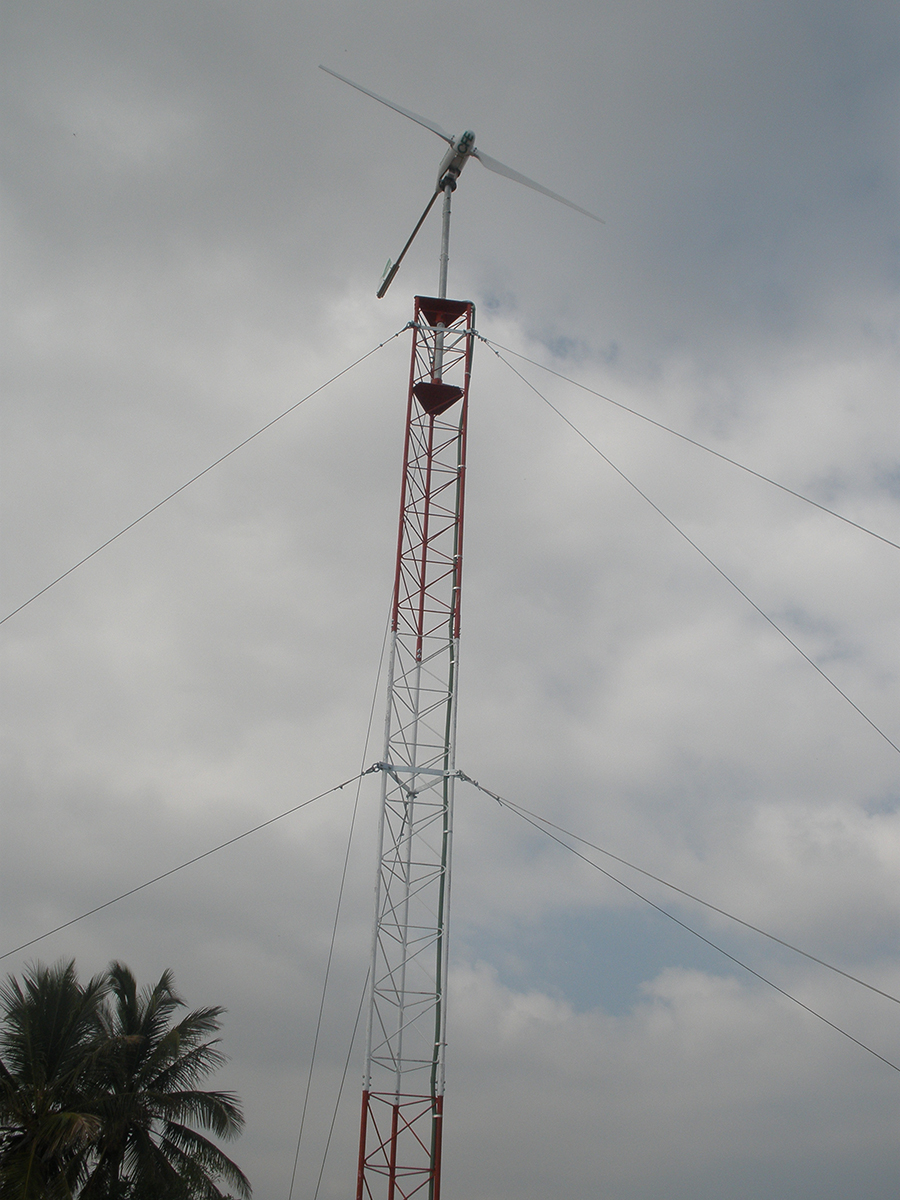 Small Wind Turbine installed in CFE