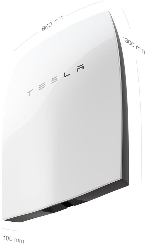 Tesla Powerwall, dimensiones